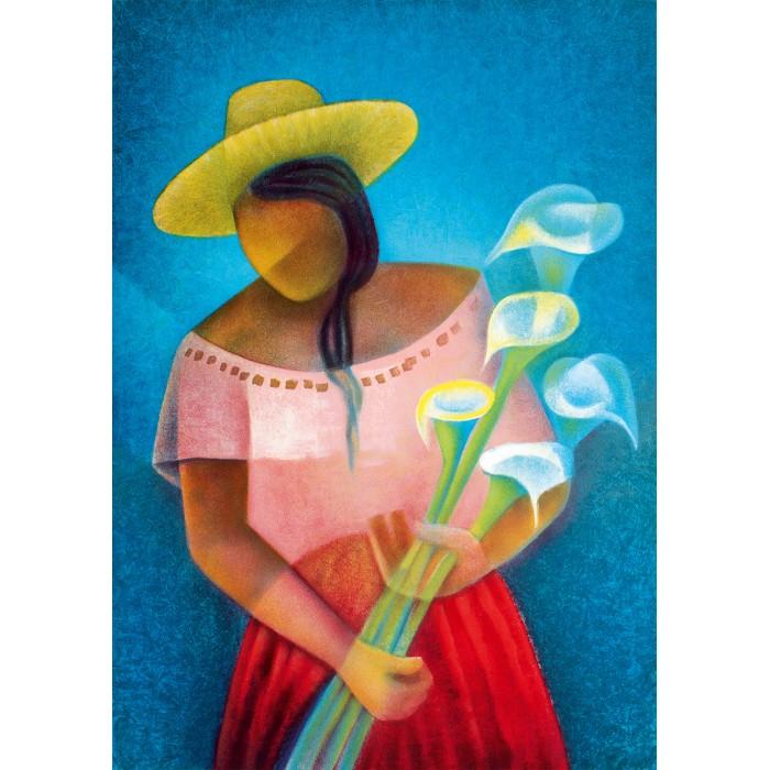 Puzzle Art-by-Bluebird-60138 Louis Toffoli - La Femme aux Arums, 1985