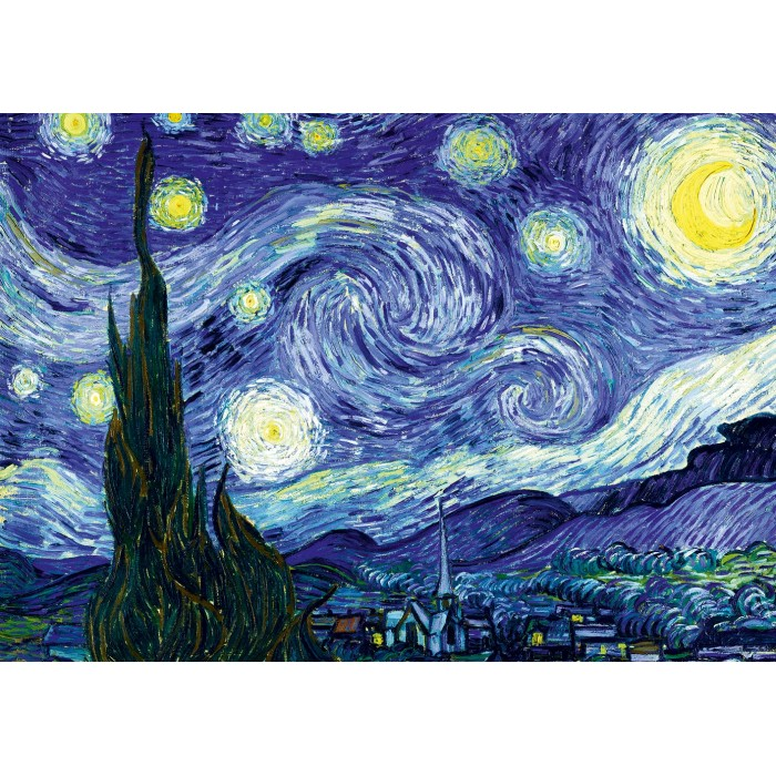 Puzzle Art-by-Bluebird-F-60200 Vincent Van Gogh - The Starry Night, 1889