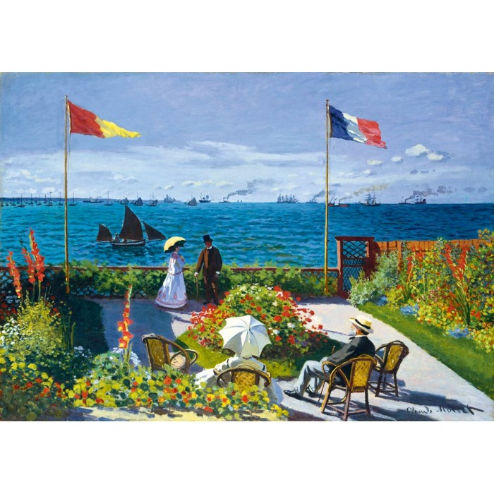 Puzzle Art-by-Bluebird-Puzzle-60042 Claude Monet - Garden at Sainte-Adresse, 1867