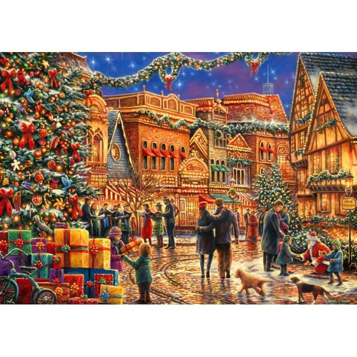 Puzzle Bluebird-Puzzle-70057 Christmas at the Town Square