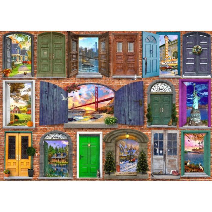 Puzzle Bluebird-Puzzle-70116 Doors of USA