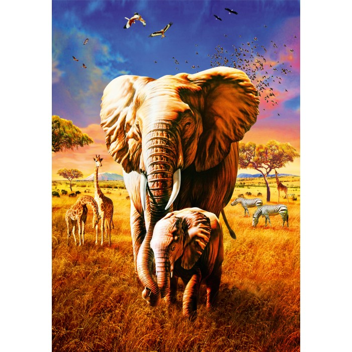 Puzzle Bluebird-Puzzle-70314-P Elephant