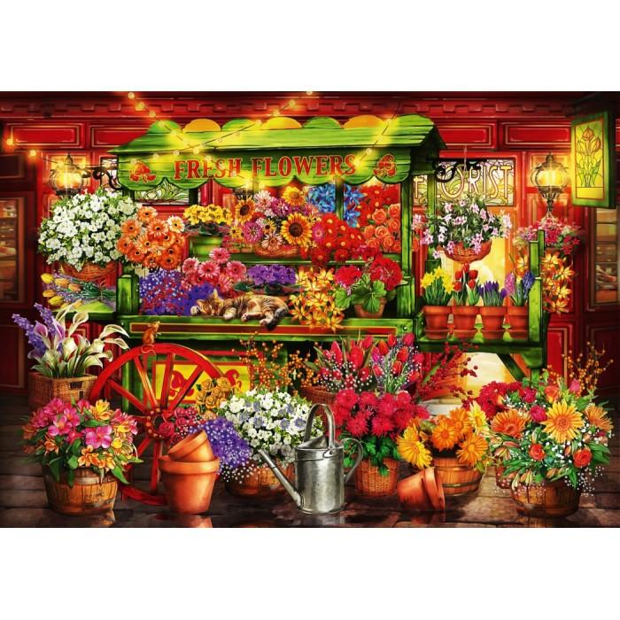 Puzzle Bluebird-Puzzle-70333-P Flower Market Stall