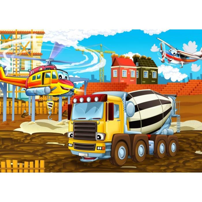 Puzzle Bluebird-Puzzle-70360 On the Construction Site
