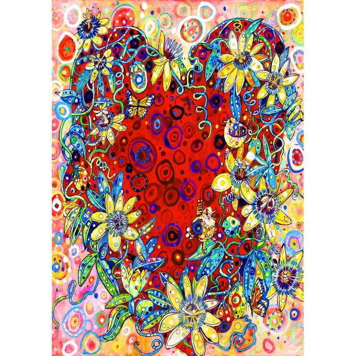Puzzle Bluebird-Puzzle-70431 Passion Flower