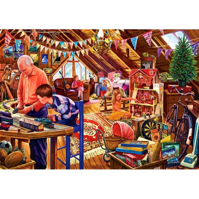 Puzzle Bluebird-Puzzle-70433 Attic Playtime