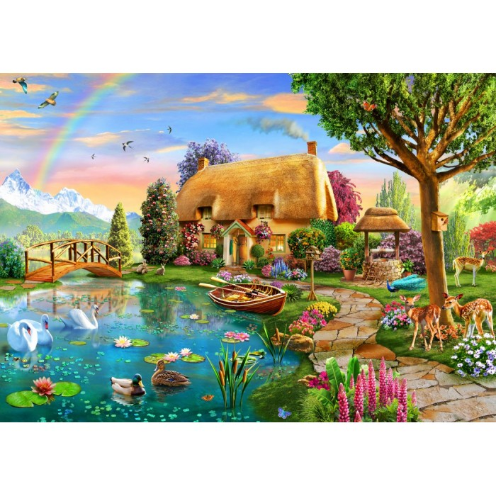 Puzzle Bluebird-Puzzle-70506-P Lakeside Cottage