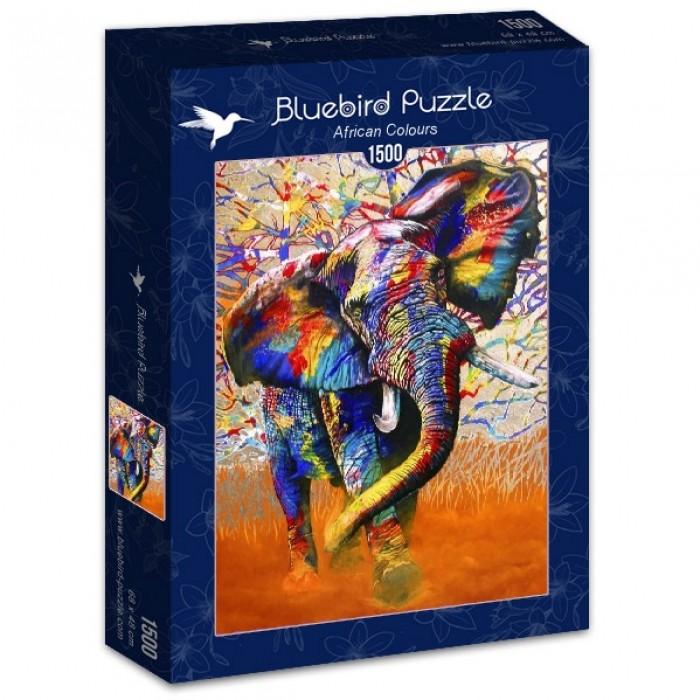 Puzzle Bluebird-Puzzle-70101 African Colours