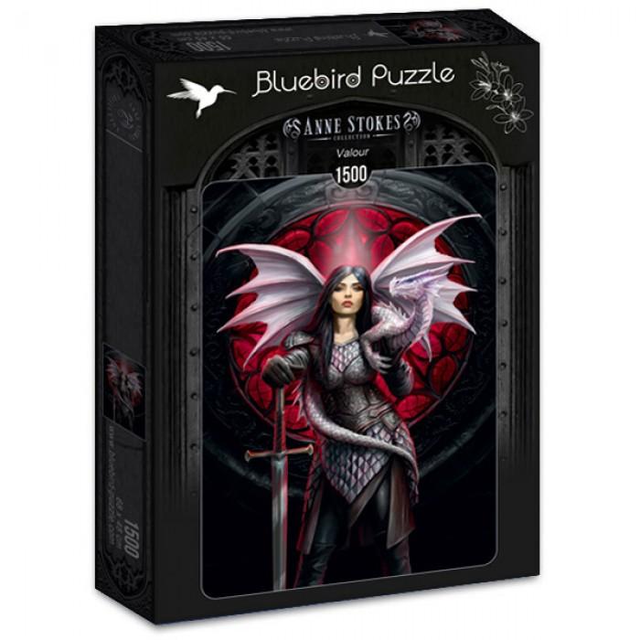 Puzzle Bluebird-Puzzle-70441 Anne Stokes - Valour