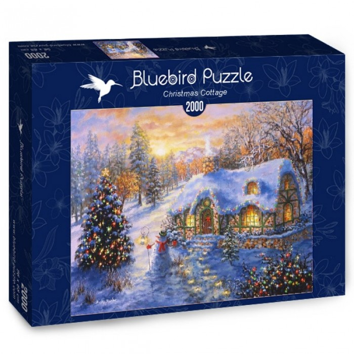 Puzzle Bluebird-Puzzle-70065 Christmas Cottage