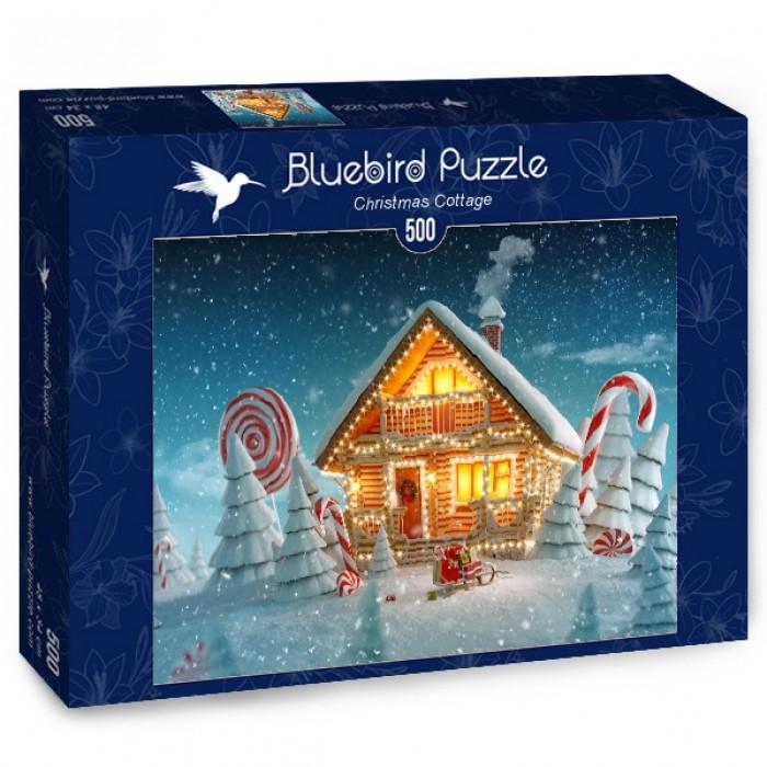 Puzzle Bluebird-Puzzle-70365 Christmas Cottage