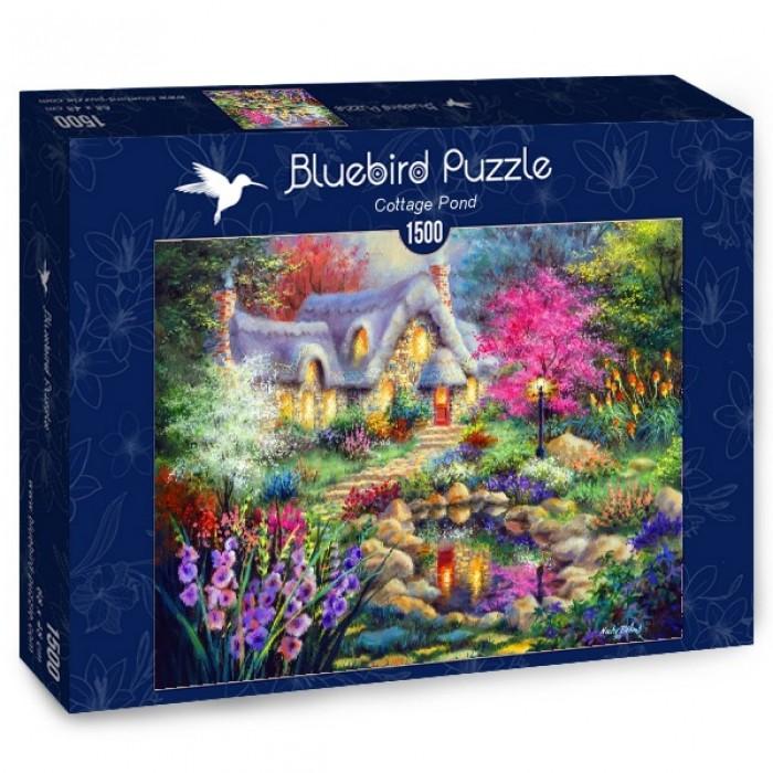 Puzzle Bluebird-Puzzle-70060 Cottage Pond