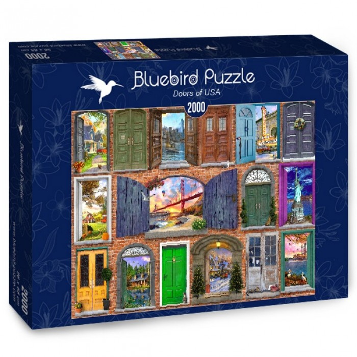 Puzzle Bluebird-Puzzle-70116 Doors of USA