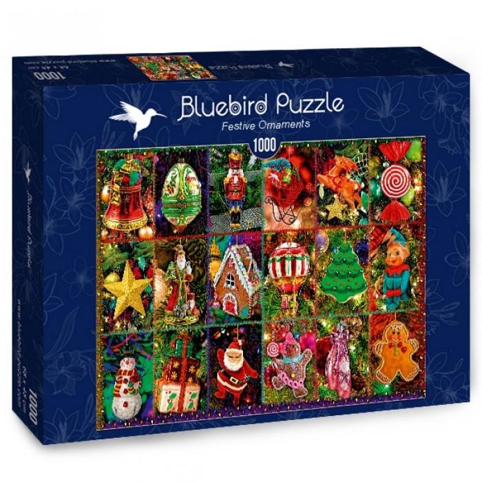 Puzzle Bluebird-Puzzle-70325-P Festive Ornaments