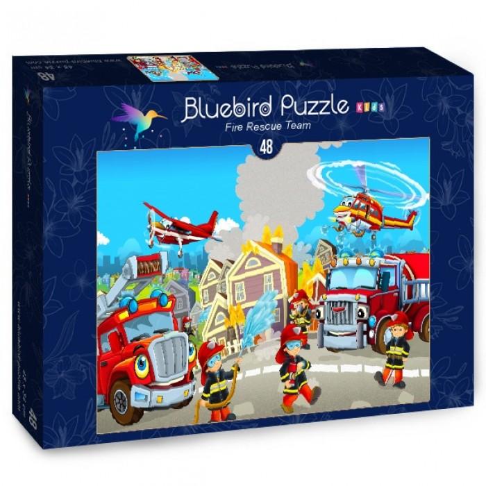Puzzle Bluebird-Puzzle-70362 Fire Rescue Team