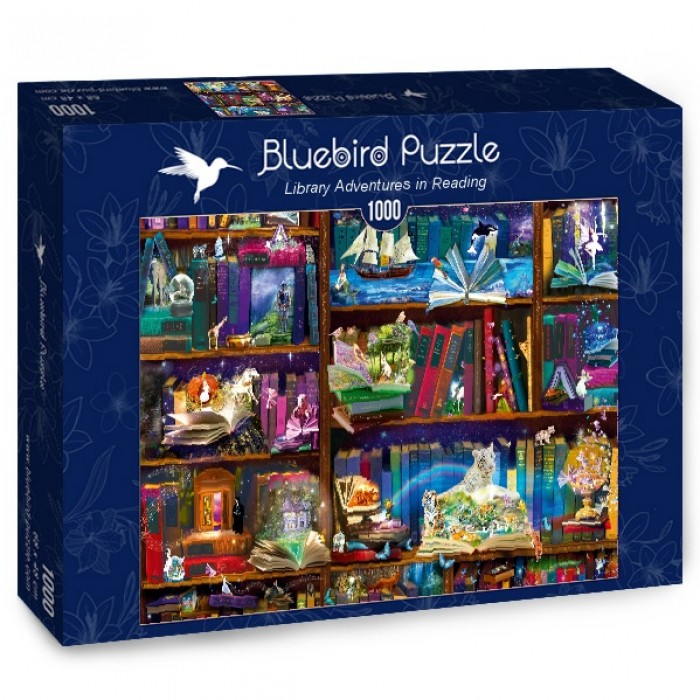 Puzzle Bluebird-Puzzle-70313-P Library Adventures in Reading