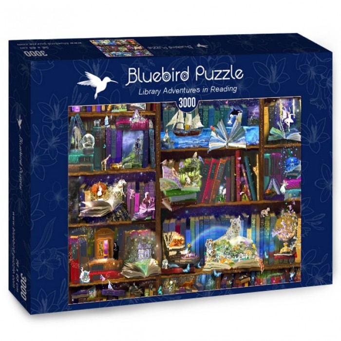 Puzzle Bluebird-Puzzle-70199 Library Adventures in Reading