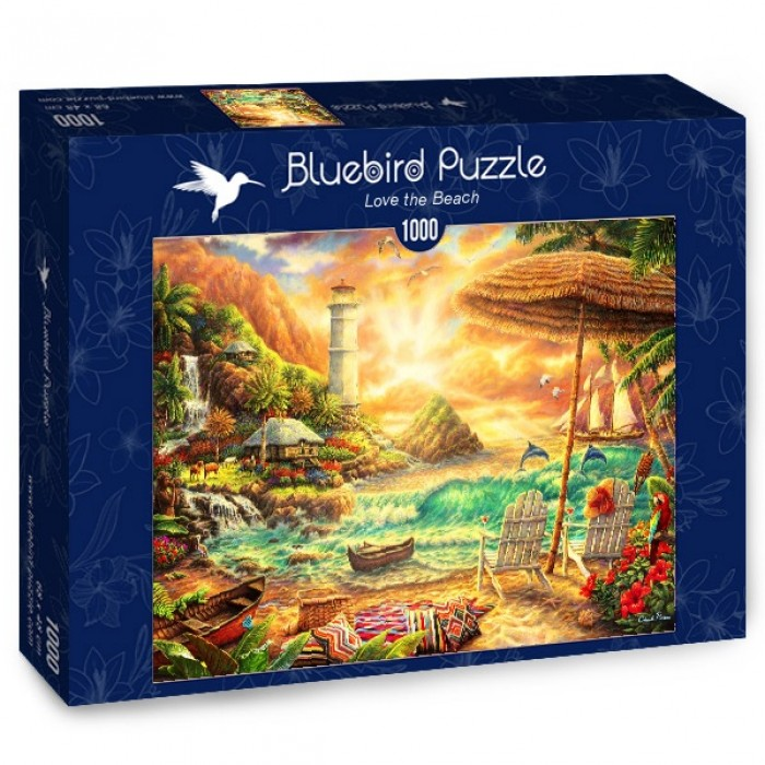 Puzzle Bluebird-Puzzle-70417 Love the Beach