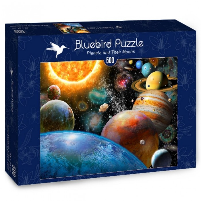 Puzzle Bluebird-Puzzle-70110 Planets and Their Moons