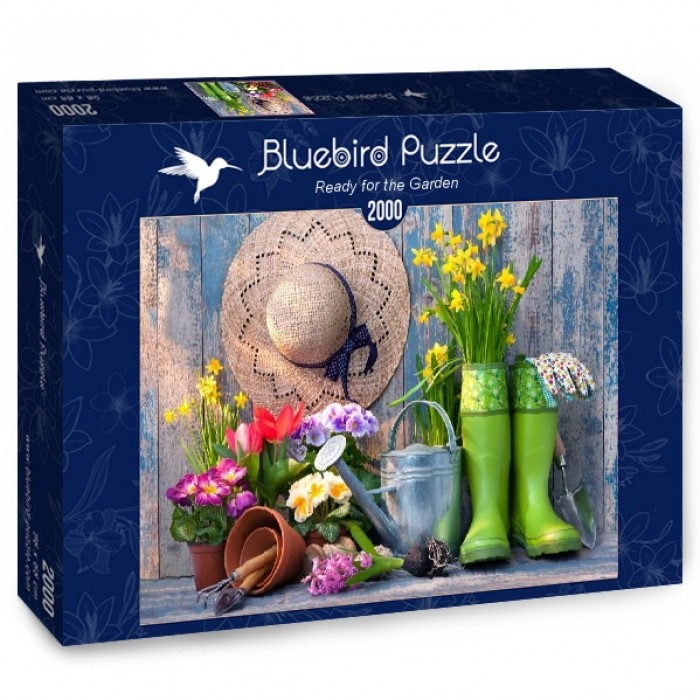 Puzzle Bluebird-Puzzle-70031 Ready for the Garden