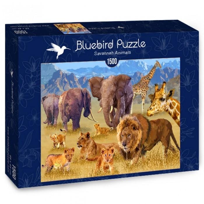 Puzzle Bluebird-Puzzle-70419 Savannah Animals