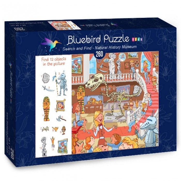 Puzzle Bluebird-Puzzle-70352 Search and Find - Natural History Museum
