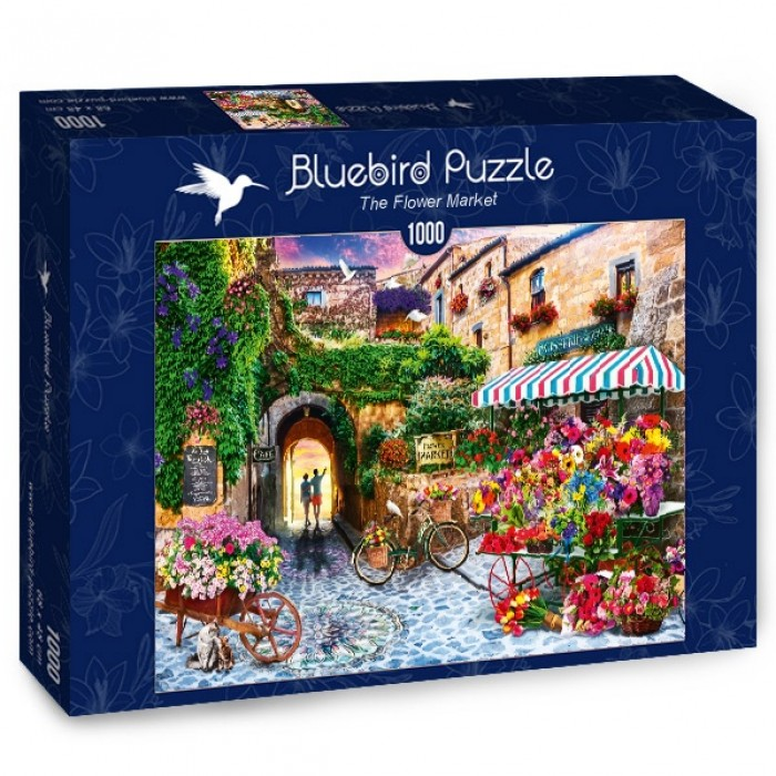 Puzzle Bluebird-Puzzle-70334-P The Flower Market