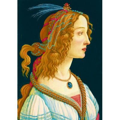 Bluebird-Puzzle - 1000 pieces - Sandro Botticelli - Idealized Portrait of a Lady, 1480