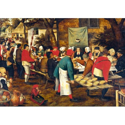 Bluebird-Puzzle - 1000 pieces - Pieter Brueghel the Younger - Peasant Wedding Feast