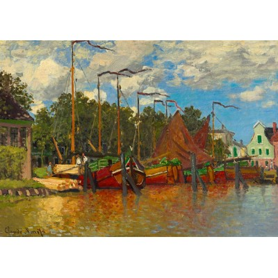 Bluebird-Puzzle - 1000 pieces - Claude Monet - Boats at Zaandam, 1871