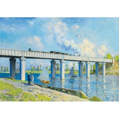 Bluebird-Puzzle - 1000 pieces - Claude Monet -Railway Bridge at Argenteuil, 1873
