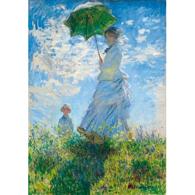 Bluebird-Puzzle - 1000 pièces - Claude Monet - Woman with a Parasol - Madame Monet and Her Son