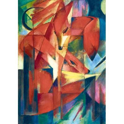 Bluebird-Puzzle - 1000 pieces - Franz Marc - The Foxes, 1913