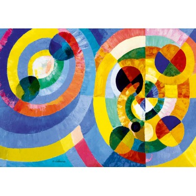 Bluebird-Puzzle - 1000 pièces - Robert Delaunay - Circular Forms, 1930