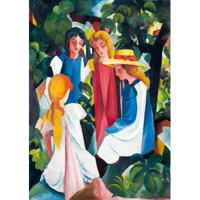 Bluebird-Puzzle - 1000 pieces - August Macke - Four Girls, 1913