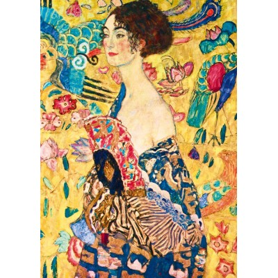 Bluebird-Puzzle - 1000 pieces - Gustave Klimt - Lady with Fan, 1918