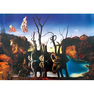 Bluebird-Puzzle - 1000 pieces - Salvador Dalí - Swans Reflecting Elephants, 1937