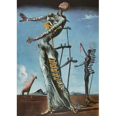 Bluebird-Puzzle - 1000 pieces - Salvador Dalí - Burning Giraffe, c. 1937