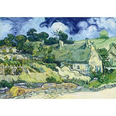 Bluebird-Puzzle - 1000 Teile - Vincent Van Gogh - Thatched Cottages at Cordeville, 1890