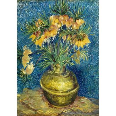 Bluebird-Puzzle - 1000 Teile - Vincent Van Gogh - Imperial Fritillaries in a Copper Vase, 1887