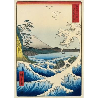 Bluebird-Puzzle - 1000 pieces - Utagawa Hiroshige - The Sea at Satta, Suruga Province, 1859