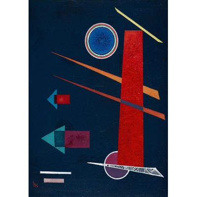 Bluebird-Puzzle - 1000 pièces - Vassily Kandinsky - Powerful Red, 1928