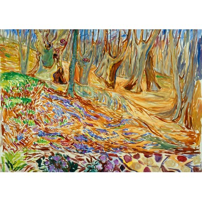 Bluebird-Puzzle - 1000 pièces - Edvard Munch - Elm Forrest in Spring, 1923