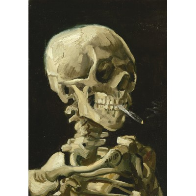 Bluebird-Puzzle - 1000 Teile - Vincent Van Gogh - Head of a Skeleton with a Burning Cigarette, 1886