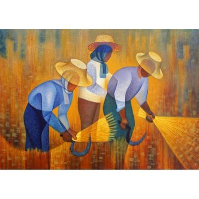 Bluebird-Puzzle - 1000 pieces - Louis Toffoli - La Récolte, 1977