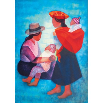 Bluebird-Puzzle - 1000 pieces - Louis Toffoli - Famille Péruvienne, 1986