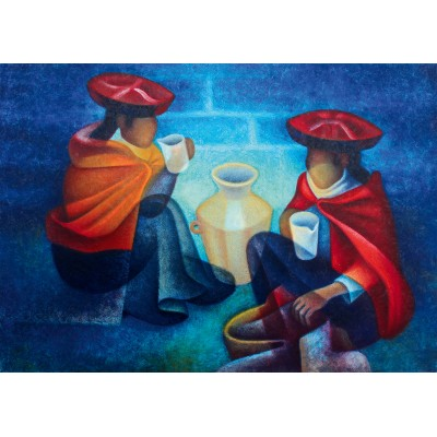 Bluebird-Puzzle - 1000 pieces - Louis Toffoli - Les Marchandes (Pérou), 1975