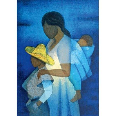 Bluebird-Puzzle - 1000 pieces - Louis Toffoli - La Mère et les Enfants, 1973