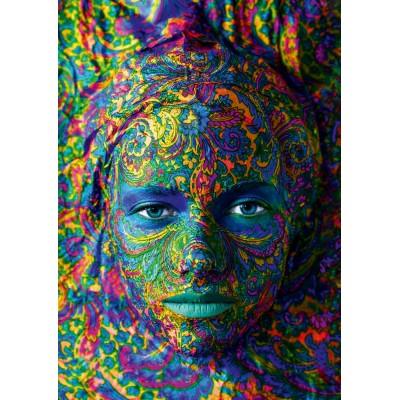 Bluebird-Puzzle - 1000 pieces - Face Art - Portrait of woman