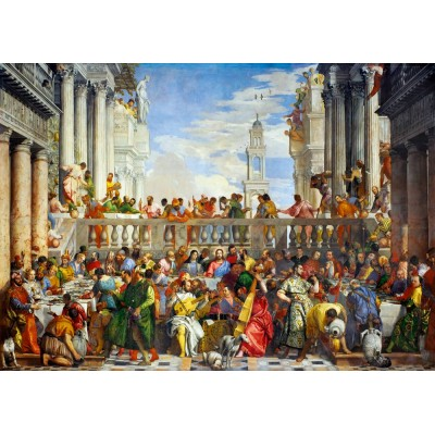 Bluebird-Puzzle - 1000 Teile - Paolo Veronese - The Wedding at Cana, 1563